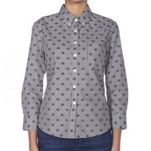 New Band of Outsiders Dobby Dot Button Down Shirt